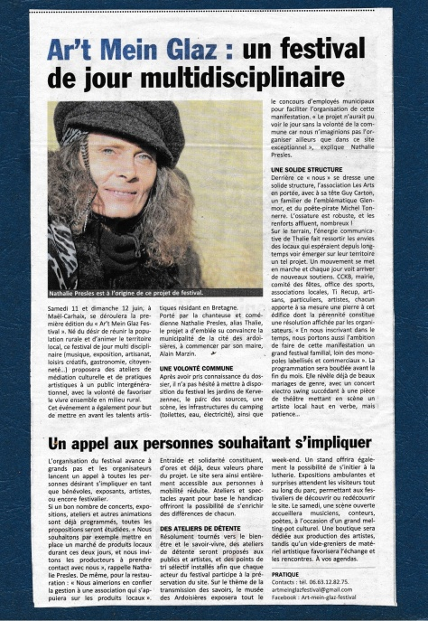 ARTICLE LE POHER 15 MARS